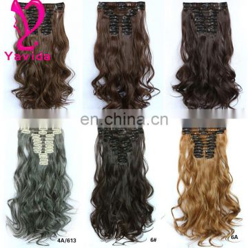 Real High quality human remy clip hair extensions alibaba china wholesale remy hair extensions