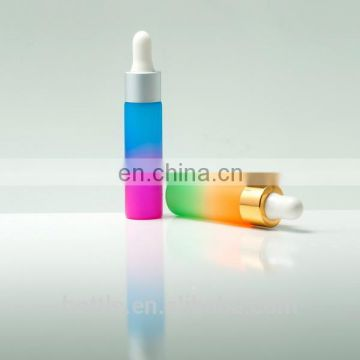 colorful glass bottle for essential oil eliquid with dropper