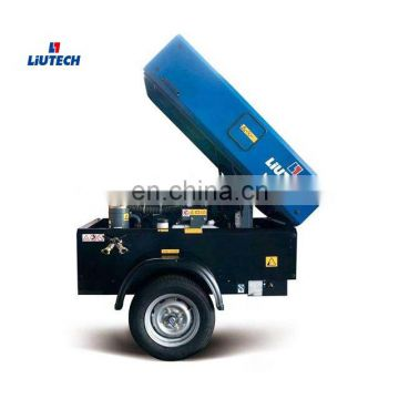 Fast delivery diesel 375 cfm super works air compressor for water well drilling