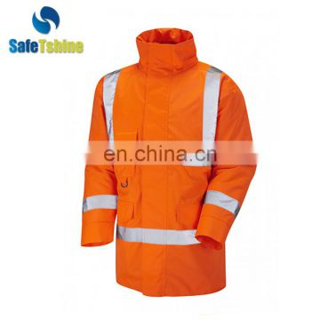 Latest design superior quality custom safety winter jacket parkas