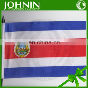 2016 Euro Cup all country printing hand shaking flag with plastic pole
