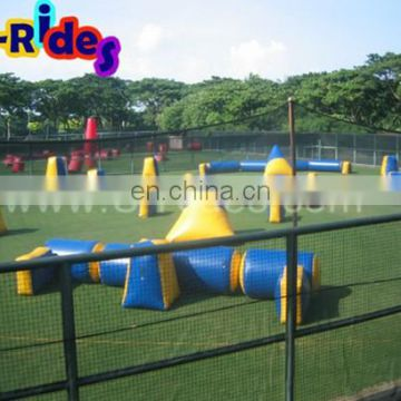 Advertising Red Large-Scale Inflatable Paintball Arena For Sports Games
