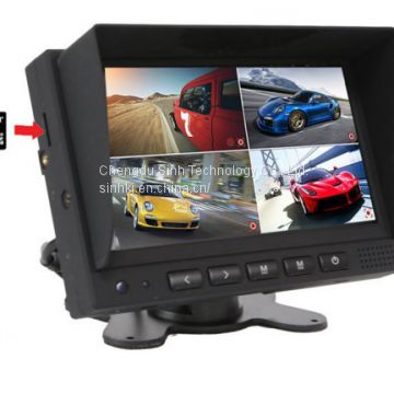 12V or 24V night vision Truck wireless rear view camera Trailer reversing camera system 7in LCD monitor