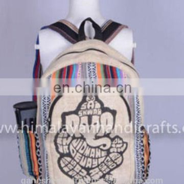 Pure Elegant Blue Hemp Backpack HBBH -0035