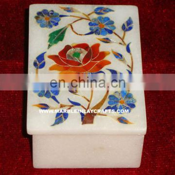 White Marble Decorative Box, Handmade Marble Box