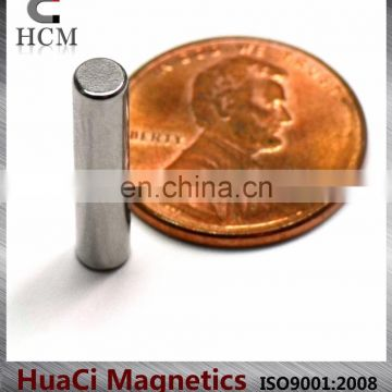 "N52 Cylindrical Neodymium Magnets Dia 5/32""X3/4"" large rare earth magnets for sale"