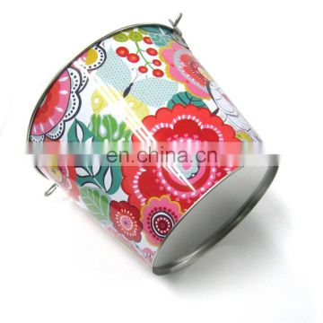 Free shipping cheap Mini small wedding decoration pail iron bucket Party Favor tin cute candy box