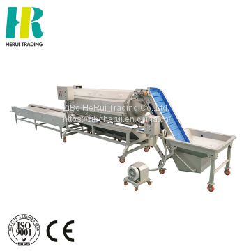 Continuous peeler line washing peeling and cutting potato machine