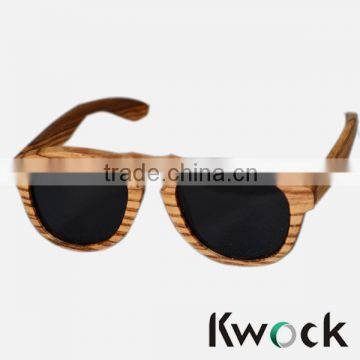 Skateboard Wooden Sunglasses, Zebra wood sun glass Natural