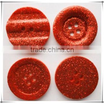 wholesale colorful glitter gold dust resin butons for christmas gifts, Diy crafts , promotion