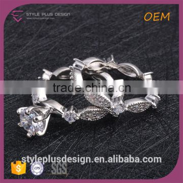 R63416K01 Fashion Penis Ear Ring Wide Band Sterling Silver Rings Crystal Yiwu Silver Plus Rings Jewelry