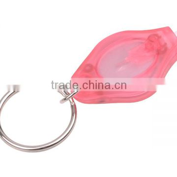 New Design Pink light 12000-14000mcd Promotional Logo Customized Keychain Light LED