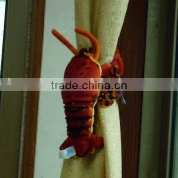 plush stuffed lobster curtain decoration/ plush sea animal toy