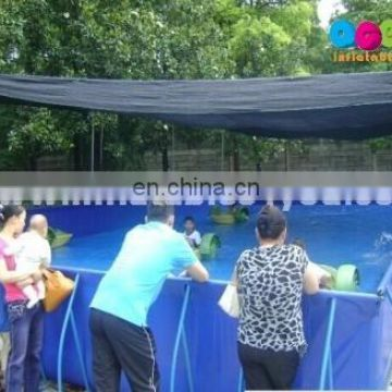 Giant funny Inflatable swimming pool with frame
