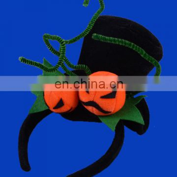 Hot selling halloween headband with pumpkin and min top hat