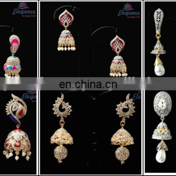 CZ Dangle earrings / Wholesale american diamond earrings / Party wear dangle earring / CZ Earrings