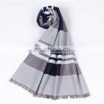 Fashion stripe design custom silk scarf