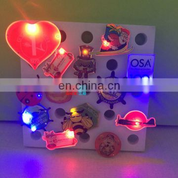 Factory price customized design LED pin badge for party
