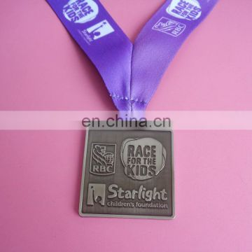 Mens' Football cup championship awards medal trophy with lanyards