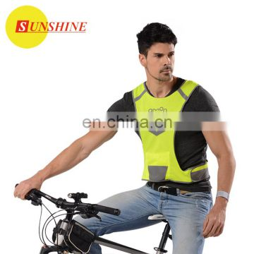Adult reflex yellow pocket safety vest working clothes