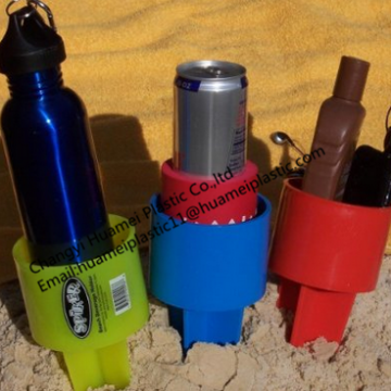 Eco Friendly Colorful Plastic Beach Drink Cup Traybeach Beverage