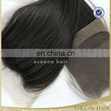 Best quality brazilian lace front closure silk lace closure 3 parting lace closur