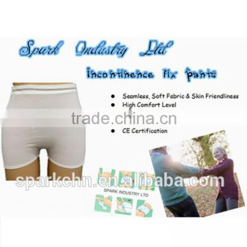 Medical maternity panties adult plastic incontinence underwear for fix incontinence pad