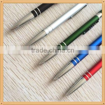 High quality laser engraved aluminium ball pen heavy for Ameria market                                                                         Quality Choice