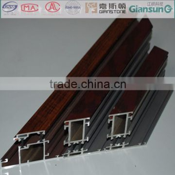 doors and windows aluminium profile material with veneer or