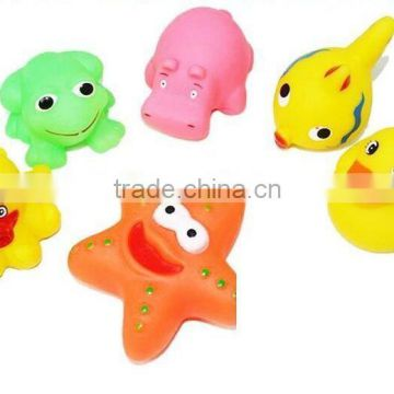 ruber animal floating baby bath toy,plastic animal bath toys,Plastic pvc baby bath toy floating