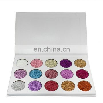 New brand Glamierre Unicorn Glitter Eyeshadow Palette 15 Colors Makeup Shimmer Shinny Eye Shadow Palette