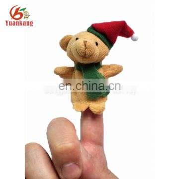 Promotional family cute plush finger puppet for Christmas gifts