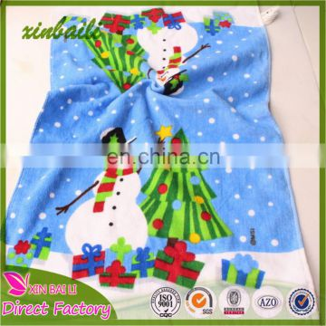 Classic Style High Quality Wholesale Christmas Cotton Kitchen Towel