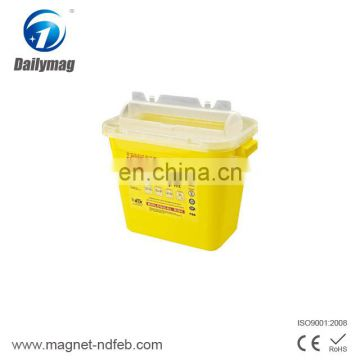 Medical Waste Disposable Recycling Plastic Medical Sharps Containers with Handle