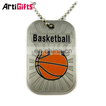 Sport souvenir custom logo army dog tags for people