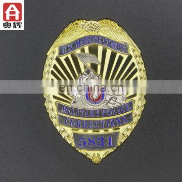Zhongshan iron souvenir die cast metal badge