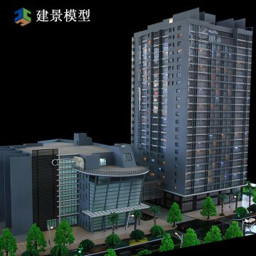 lighting architectural models / Scale building model / scale miniature square model making