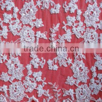 Beaded Fabric, Beaded Embroidery Fabric, Beaded Sequins Mesh Fabric