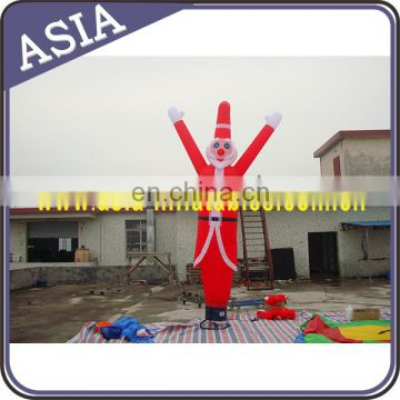 Christmas Santa Claus air dancer with one leg for promoation