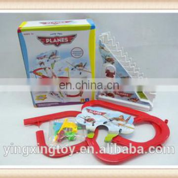 lovely plastic plane orbit with stairs,track toys YX0263465
