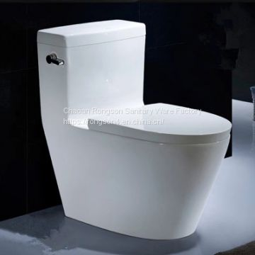 China ceramic wc toilet sanitary ware toilets with slowdown seat cover from chaozhou manufacturer in white color