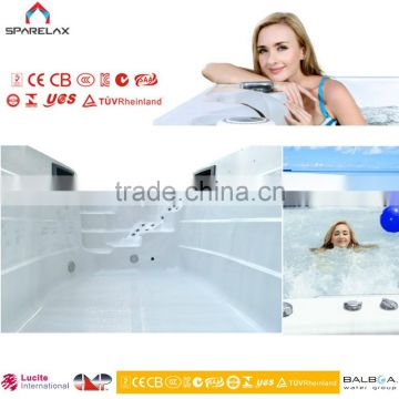 on sale large outdoor portable spa swimming pool endless swim pool with 101 jets massage bathtubs
