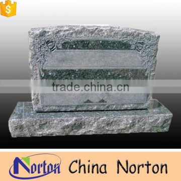 Classcial flower shaped olive green granite monument for resellNTGT-011L