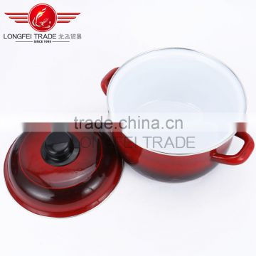 china popular 3pcs no stick hot sale enamel cookware set wholesale