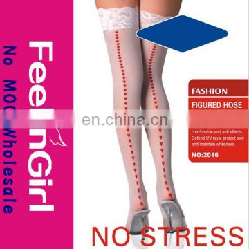 Fashion White Sexy Over Knee School Girl Stocking