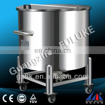 CE standard factory direct sale FCG Stainless Steel Water Cream Milk Movable Storage Tank For Cosmetic And Shampoo/customized
