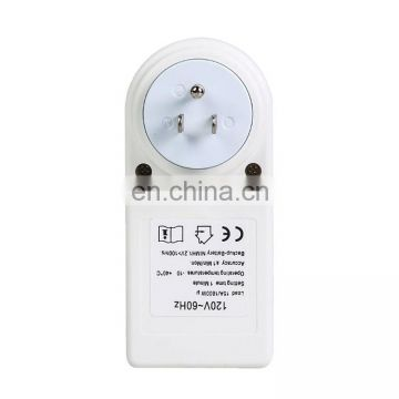 AC 120V Smart Home Plug-in LCD Display Clock Summer Time Function 12