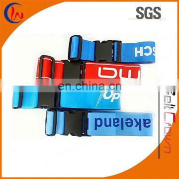 Factory low price personalized polyester luggage strap with buckle