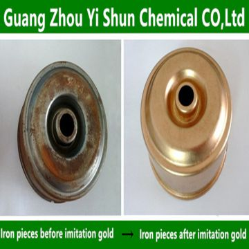 Iron imitation gold liquid  Iron surface treatment process Imitation gold liquid on the surface of steel