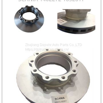 Zhejiang Depehr Heavy Duty European Auto Brake System Scania Truck Steel Brake Disc 1402272 1852817